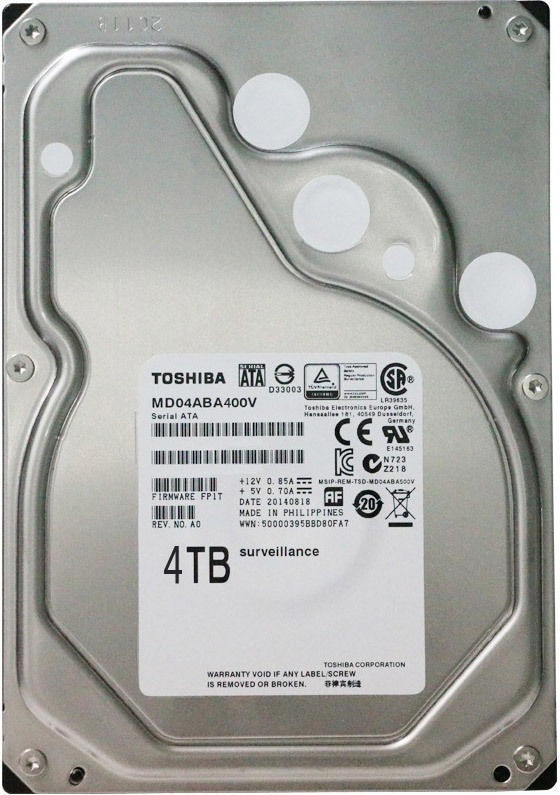View TOSHIBA MD04ABA400V 4 TB Surveillance Systems Internal Hard Disk Drive (HDEUR11GZA51)  Price Online