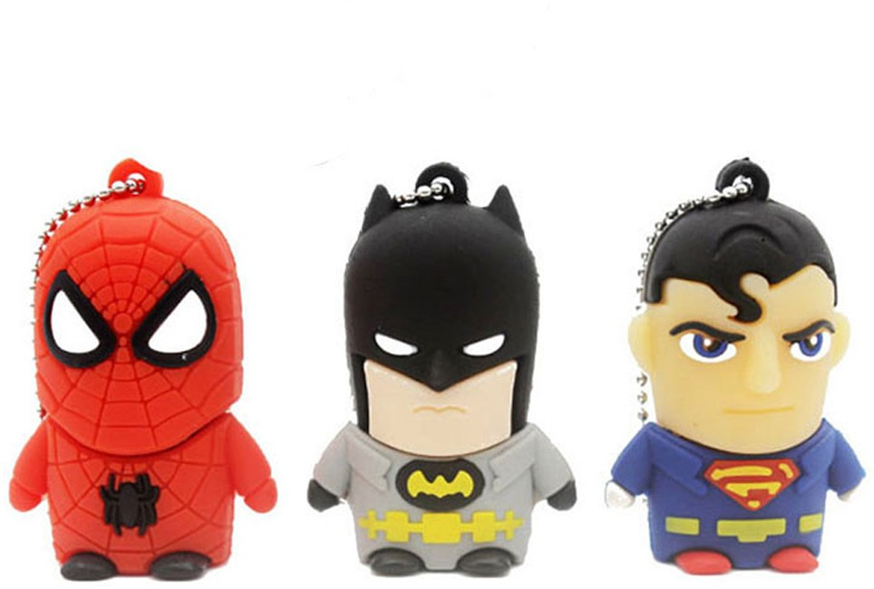 View Green Tree Fancy Cartoon Superman,Batman and Spider Man 16 GB Pen Drive(Multicolor)  Price Online