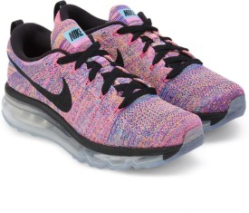 Nike WMNS FLYKNIT AIR MAX Running Shoes(Black, Blue, Pink)