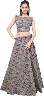 Inddus Cotton Woven Semi-stitched Lehenga Choli Material