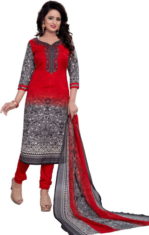 Regalia Ethnic Cotton Printed Suit Fabric(Un-stitched)