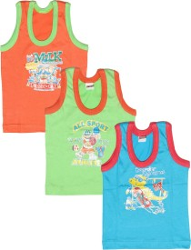 Babeezworld Vest For Boys Cotton(Multicolor, Pack of 3)