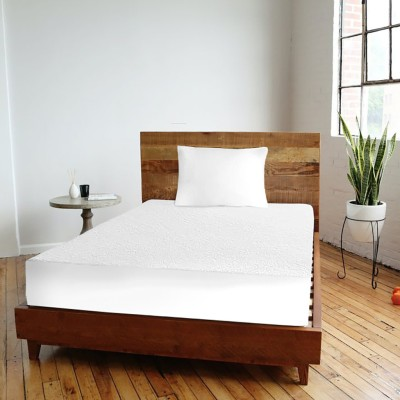 Cortina Fitted Queen Size Mattress Protector(White)