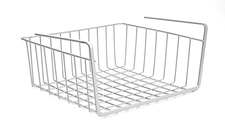 View jvs Undershelf Basket Small - Combo Plastic Wall Shelf(Number of Shelves - 1, Silver) Furniture (JVS)