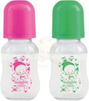 Naughty Kidz Regular Glass Feeding Bottle (120/PNK/GRN/SCHM) - 120 ml(Multicolor)