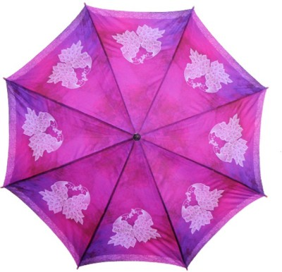 The Ringmaster Peacock Watercolour Umbrella(Pink)