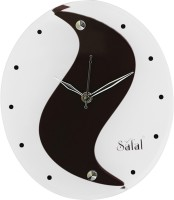 Safal Analog Wall Clock(Black, With Glass)