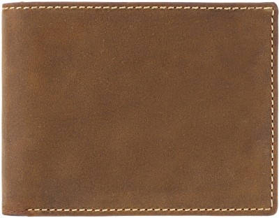 Visconti Men Tan Genuine Leather Wallet(6 Card Slots)