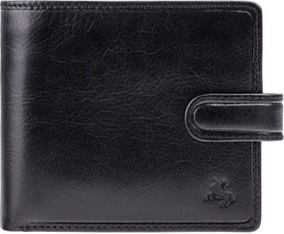 Visconti Men Black Genuine Leather Wallet(7 Card Slots)