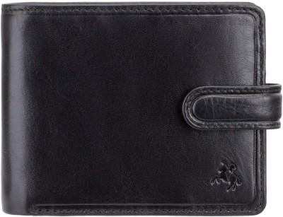 Visconti Men Black Genuine Leather Wallet(4 Card Slots)