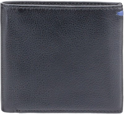 Visconti Men Blue Genuine Leather Wallet(6 Card Slots)