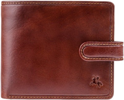 Visconti Men Tan Genuine Leather Wallet(4 Card Slots)