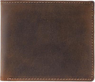 Visconti Men Tan Genuine Leather Wallet(5 Card Slots)