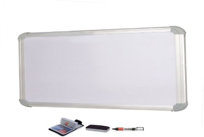 Action World Non Magnetic wood 60x30 centimeter Whiteboards and Duster Combos(Set of 1, White)