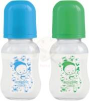 Naughty Kidz REGULAR GLASS FEEDING BOTTLE BLUE GREEN COMBO - 120 ml(Multicolor)