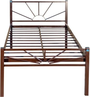 Delite Kom DKB02CF_CF Metal Single Bed(Finish Color - Brown)