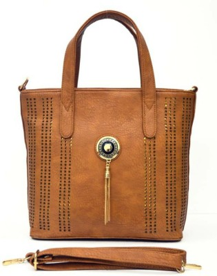 1TRENDZ Hand-held Bag(Brown)