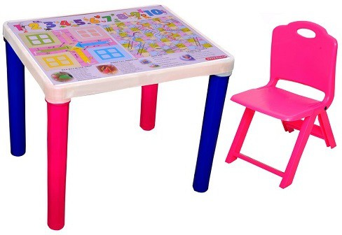 View Surety for Safety Plastic Desk Chair(Finish Color - Pink) Furniture (Surety for Safety)
