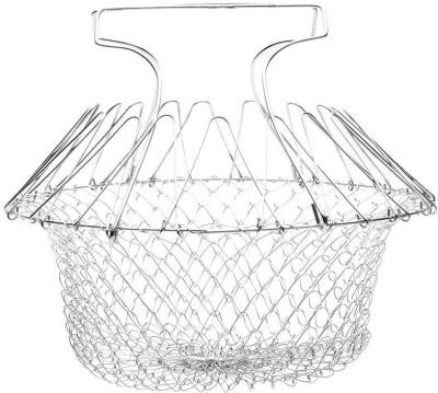 Shrih SH - 02456 Foldable Steam Rinse Strain Basket Silver Kitchen Tool Set(Foldable Steam Rinse Strain Basket) at flipkart