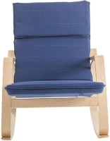 Durian NAVY Fabric 1 Seater Rocking Chairs(Finish Color - Royal Blue)