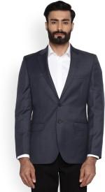 Raymond Solid Single Breasted Formal Men Blazer(Blue)