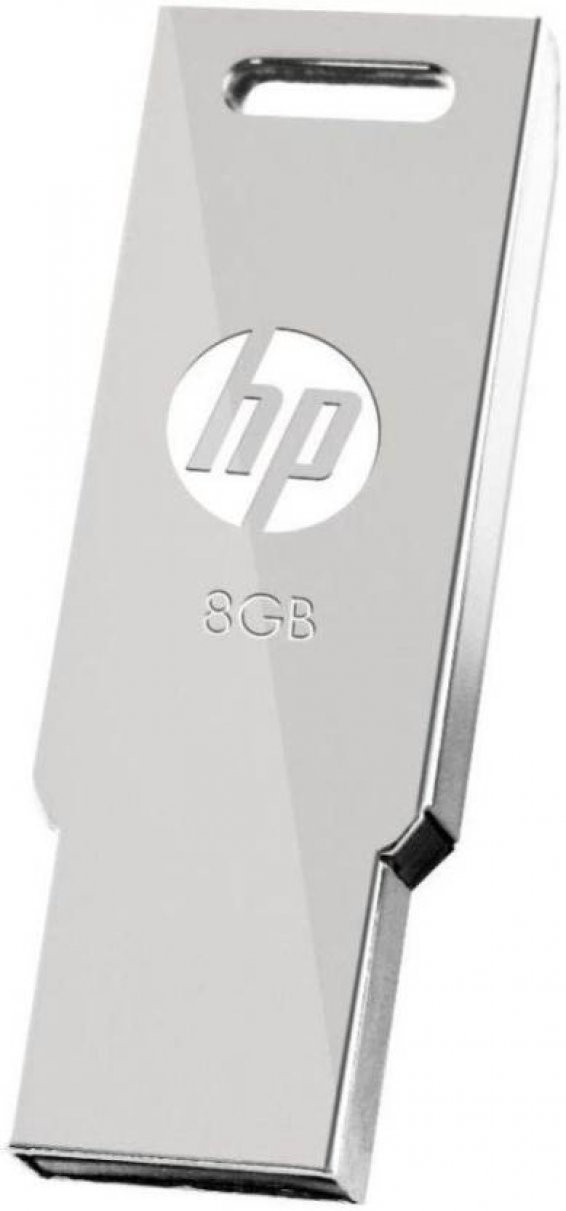 View HP USB 2.0 Flash Drive v232w 8 GB Pen Drive(Silver) Price Online(HP)