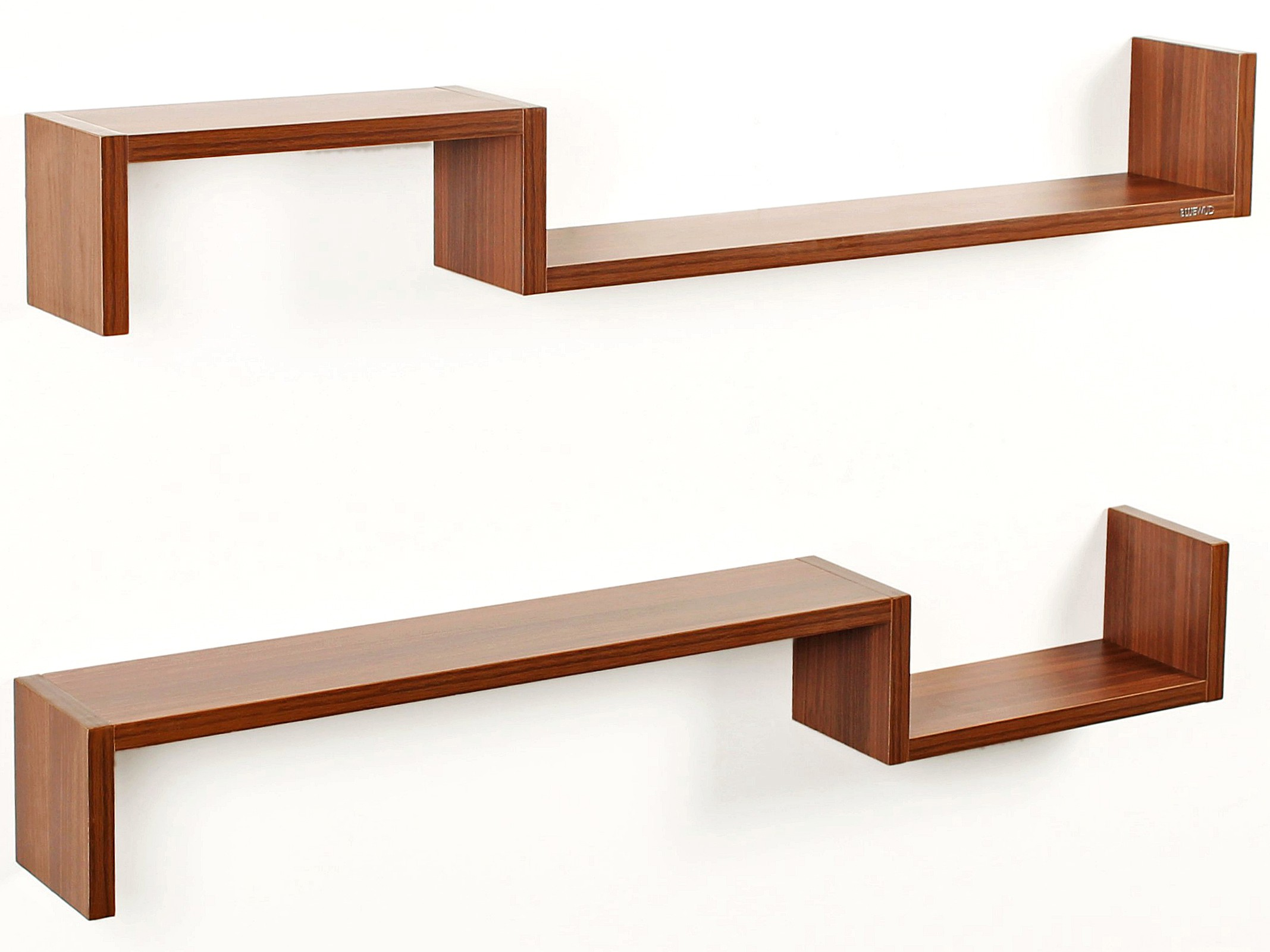 View Bluewud Riley Engineered Wood Open Book Shelf(Finish Color - Walnut) Furniture (Bluewud)