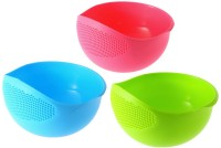 MUKTI Fruit Washing Bowl 3 pcs Plastic Fruit & Vegetable Basket