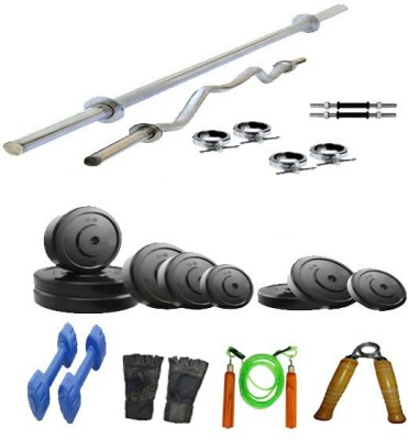 Arnav of 16 kg Plates with 7 Accesiories Home Gym Combo(0 - 20 kg)