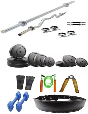 Arnav 20 kg Plates with 8 Accesiories Home Gym Combo(20 - 40 kg)
