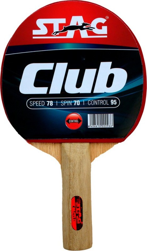 Stag Club table tennis racquet(Red, Black, Weight - 176 g)