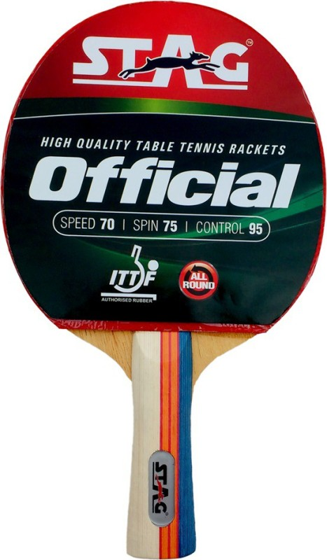 Stag Official Table Tennis Racquet(Red, Black, Weight - 190 g)