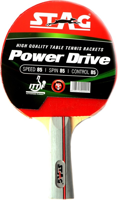 Stag Power Drive Table Tennis Racquet(Red, Black, Weight - 196...