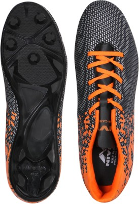 Nivia Football Shoes(Black, Orange)