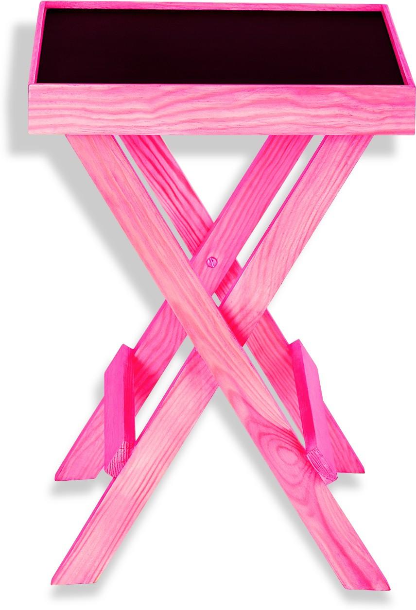 View NETWOOD DESIGNER Pink Solid Wood Side Table(Finish Color - Pink Matte Finish) Furniture (Netwood Designer)