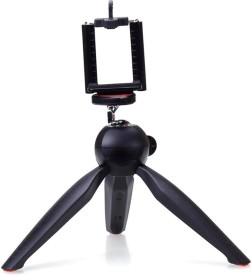Yantralay 7 inch Mini Mobile Tripod With 360 degree Rotating Ball Head With Mobile Clip For DSLR, GoPro & Smartphones Tripod(Black, Supports Up to 2000 g)