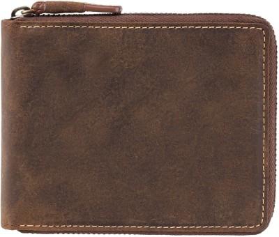 Visconti Men Tan Genuine Leather Wallet(3 Card Slots)