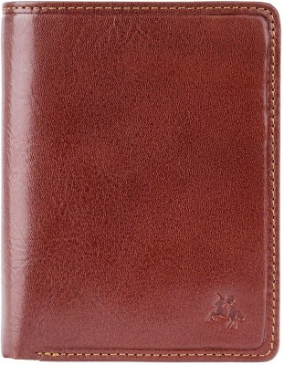 Visconti Men Tan Genuine Leather Wallet(8 Card Slots)