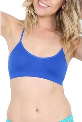 Trendzino by Actovis® - Quick Dry Gym Running Yoga Women Sports, Bralette, Full Coverage, T-Shirt, Training Blue Bra at flipkart