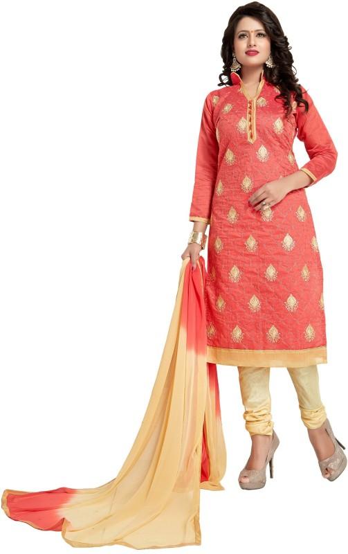 Regalia Ethnic Chanderi Embroidered Suit Fabric(Un-stitched)