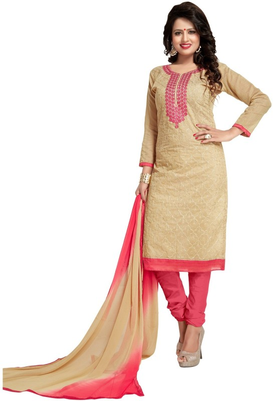 Regalia Ethnic Chanderi Embroidered Suit Fabric(Un-stitched)