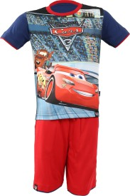 Disney Boys Casual T-shirt Shorts(Dark Blue)