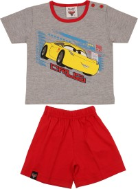 Disney Boys Casual T-shirt Shorts(Grey)