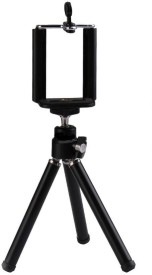 Sukot Small Mini Tabletop Youtube Video Making Tripod + Phone Holder Mobile Selfie Attachment Stand Tripod Kit(Multicolor, Supports Up to 300 g)