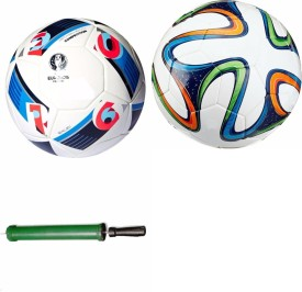 RSO High Quality Liverpool Combo With Air Pump Football - Size: 5(Pack of 3, Multicolor)
