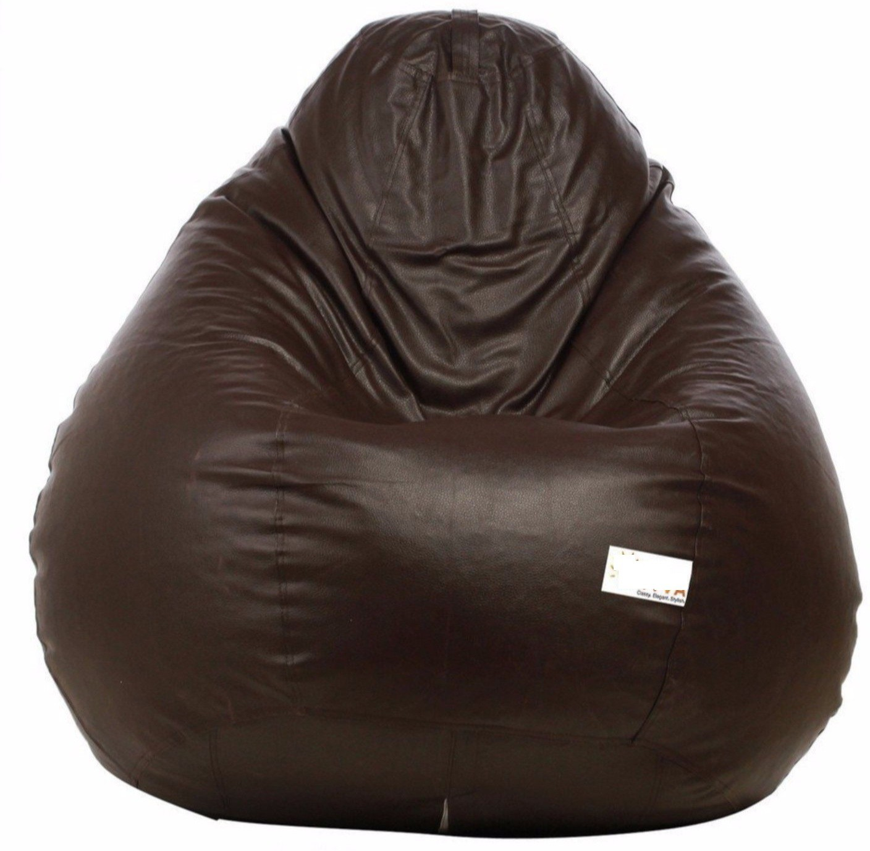 View VSK XXXL Bean Bag Cover(Brown) Furniture (VSK)