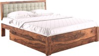 Urban Ladder Florence Solid Wood Queen Bed With Storage(Finish Color -  Teak)