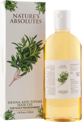 Nature's Absolutes Henna & Thyme  Hair Oil(220 ml) at flipkart