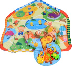 Bubble Hut Plastic Play Mat Baby Activity Playgym Pop'n Blanket and Bolster(Multicolor, Medium)
