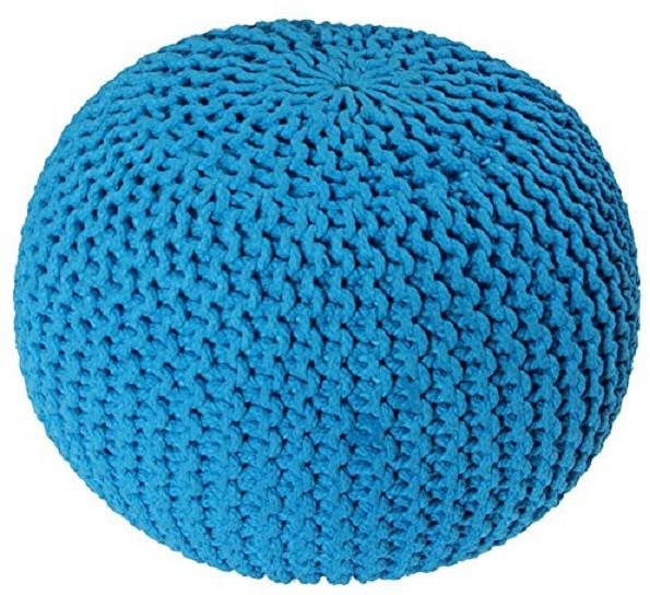 View ACASA Natural Fiber Pouf(Finish Color - DAZZLING BLUE) Furniture (ACASA)